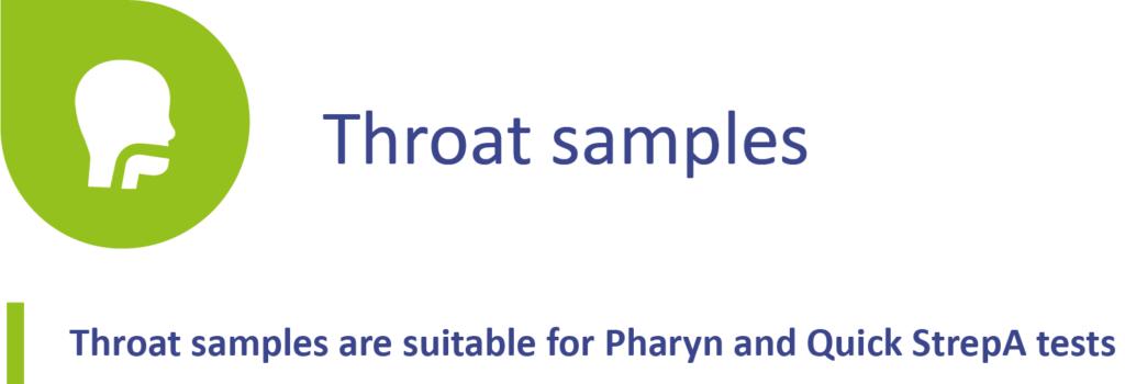 Throat sampling