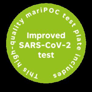 Improved SARS test sticker